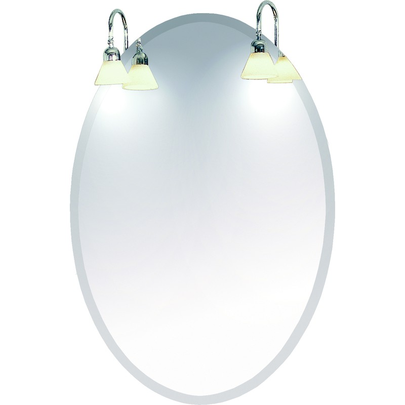 Spegel Oval 95×70 utan lampetter DuoBad